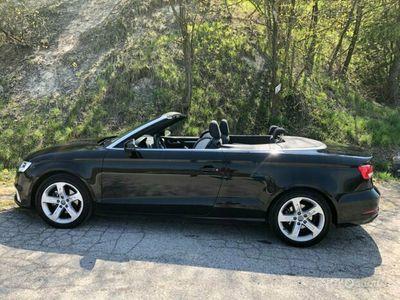 usata Audi A3 Cabriolet S Tronic nera 2017