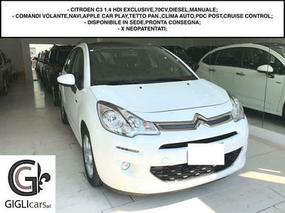 used Citroën C3 1.4 HDI EXCLUSIVE,68 CV - CRUISE CONTROL/TET. PAN.