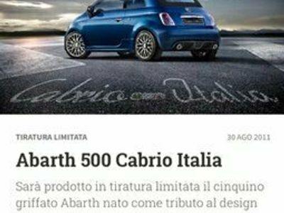 usata Abarth Cabrio Italia 500serie limitata