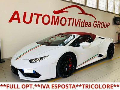usata Lamborghini Huracán *TRICOLORE*SPYDER*IVA ESPOSTA*GARANZIA UFFICIALE*