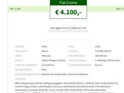usata Fiat Croma 1.9 150 CV