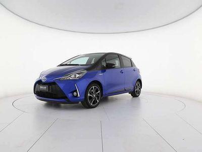 usata Toyota Yaris 5p 1.5 hybrid trend blue edition