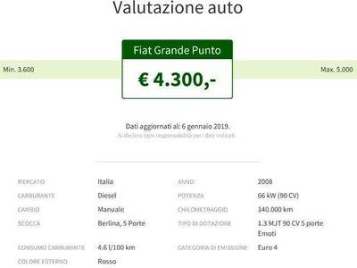 gebraucht Fiat Grande Punto 1.3 MJT 90 CV 5 porte Emoti