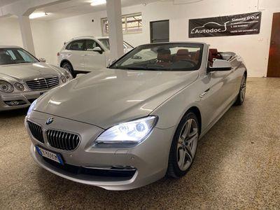 usata BMW 640 Cabriolet i (F12/F13) Futura PELLE BORDEAUX GARANZIA