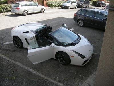 usata Lamborghini Gallardo spyider e gear telecamere,anche noleggio Cabrio