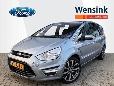 tweedehands Ford S-MAX 1.6 160 PK EcoBoost Platinum 7 persoons - Glasdak, Clima, Premium audio, Navigatie, Voorruitverwarming, Alcantara-Leder interieur, Stoelverwarmi