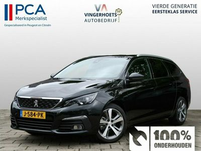 tweedehands Peugeot 308 SW * GT-line * Automaat 8-traps * Panoramadak * Navigatie * 1/2 Leder * LM Velgen * Zwart * Vingerhoets; Vierde generatie, Eersteklas Service ! + 1.200 klantenreviews, 99% aanbeveling !