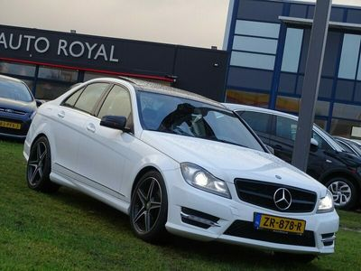 tweedehands Mercedes C350 4Matic Sport 306 PK - Automaat, Navigatie, Panoramadak, Leder/Alcantara, Xenon, Led, Airco/ECC, CruiseControl, Harman/kardon geluid installatie, Voorstoelen verwarmd, Achteruitrijcamera