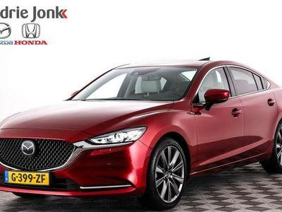 tweedehands Mazda 6 2.0 aut SkyActiv-G 165 Luxury Open dak off white 19 inch Ned auto!!