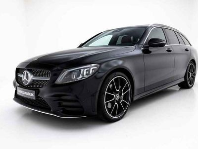 tweedehands Mercedes 180 C-Klasse EstatePremium Plus Pack AMG Nw. Prijs € 60.914 Pano Comand Keyless Go Burmester 360 Camera Geïnteresseerd?