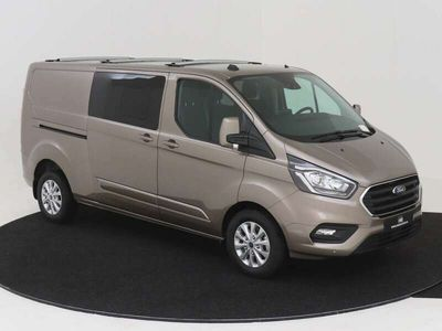 tweedehands Ford Custom Transit300L L2H1 Limited TRAIL DC 170 PK AUTOMAAT LEER Nr. 503167 XENON NAVIGATIE ADAPTIEVE CRUISE CONTROL CAMERA PDC VOOR EN ACHTER DUBBELE CABINE