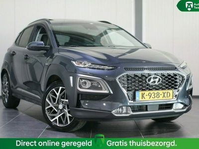 tweedehands Hyundai Kona 1.6 GDI HEV Premium Sky AUTOMAAT / NAVI / LM VELGE