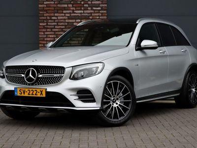 tweedehands Mercedes GLC43 AMG AMG 4-MATIC Aut9, Luchtvering, Panoramadak, Elek. Trekhaak, Comand, Camera, Rij-assistentie, LED ILS, Sfeerverlichting, Spiegelpakket, Elek. Achterklep, Etc.