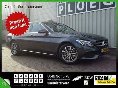 tweedehands Mercedes C350e Head-Up Navi/Cam Leer/stof Full-Led Elek-klep Le