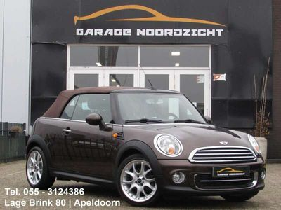 tweedehands Mini Cooper Cabriolet 1.6 122pk Hot Chocolate BRUIN LEDER|STOELVERWARMIN