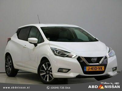 tweedehands Nissan Micra IG-T 90pk N-Connecta   Led Koplampen   Apple Carplay/Android Auto   Clima   Stoelverwarming   Private lease vanaf €319,-!  