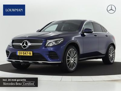 tweedehands Mercedes 250 GLC-KLASSE Coupé4MATIC AMG Automaat Luchtvering   Alarm   Navigatie   Keyless Go/ Entry   360 graden camera Inclusief 24 MB Premium Certified garantie voor Europa.