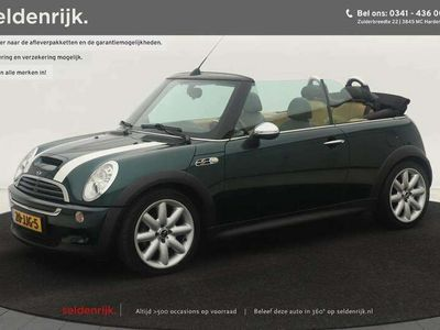 tweedehands Mini Cooper S Cabriolet 1.6   Xenon   Walnoothout   Leder   Airco   Cruise