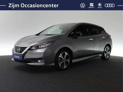 tweedehands Nissan Leaf Tekna 150pk 40 kWh Marge | incl BTW! | Rondom camera | Leder | Navigatie | Adaptief cruise control | Stoel + stuurverwarming | Keyless entry | DAB | Dodehoek