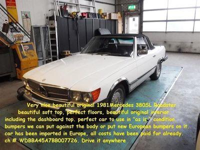 tweedehands Mercedes SL380 -Roadster white