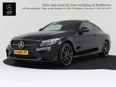 tweedehands Mercedes 300 C-KLASSE CoupéPremium Plus AMG-Line lederen bekleding, Panoramadak, Luchtvering, Burmester Surround
