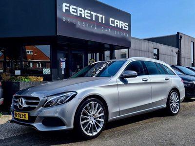 tweedehands Mercedes E350 C-klasse EstateHYBRID AMG-LINE AUT7 SPORTLEDER NAVI CAMERA LED