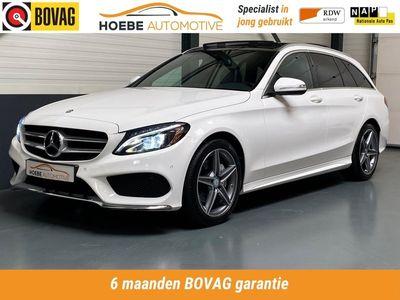 tweedehands Mercedes 200 C-klasse EstateAmbition AMG Line / PANORAMA DAK / LEDEREN BEKLEDING / CRUISE /NAV