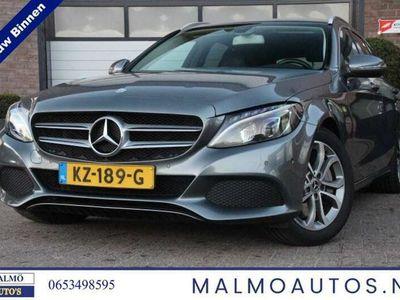 tweedehands Mercedes C350 Estate e Hybrid, ZWART LEDER, Excl btw