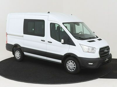 tweedehands Ford Transit 350L 130PK FWD L2H2 DC Trend AUTOMAAT Nr. 503671 AIRCO NAVIGATIE CAMERA CRUISE CONTROL 3500KG GVW DUBBELE CABINE