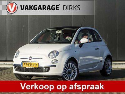 tweedehands Fiat 500 1.4-16V 100 PK Aut Lounge ✅ SCHUIFDAK ✅ LEER ✅ CLI