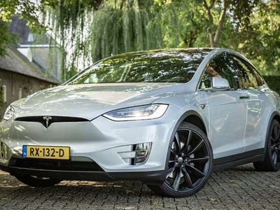 "tweedehands Tesla Model X 100D 7p. ex. BTW 22"" Luchtvering Carbon"
