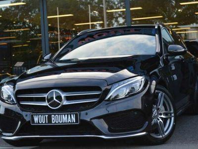 tweedehands Mercedes C180 Estate AMG-Line Aut. Navi Led Leder Camera Elektr.