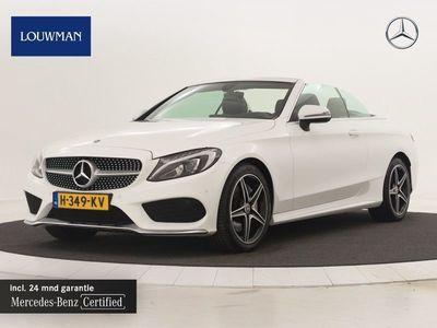 tweedehands Mercedes 250 C-KLASSE CabrioletAMG -line Leder | Navigatie | parking support | 18 inch. lichtmetalen velgen | Inclusief 24 MB Premium Certified garantie voor Europa.