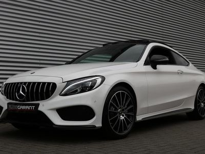 tweedehands Mercedes 250 C-KLASSE CoupéAMG Pakket Aut/9G-Tronic (Panoramadak SportLeder Clima Navi/Camera Full-Led 19InchAMG PrivacyGlass Pdc V+A)
