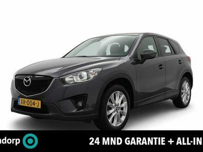 tweedehands Mazda CX-5 2.0 GT-M 4WD AUTOMAAT | 24 maanden garantie | Navigatie | Lederen bekleding | 19 Inch lichtmetalen velgen | Achteruitrijcamera | Bi-Xenon verlichting | Keyless entry | Cruise control | Airco (automatisch) | Stoelverwarming | Stuurwielverwarming