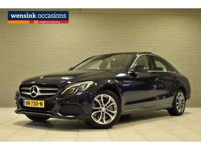 tweedehands Mercedes C350e Lease Edition Plus | Luchtvering | Standkachel | Stoelverwarming | LED | Camera | Panodak | Navi |