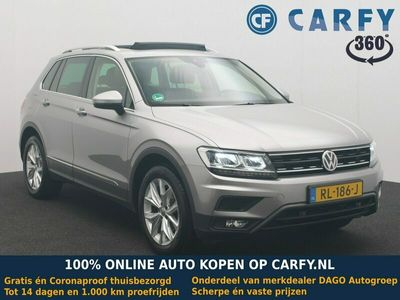 tweedehands VW Tiguan 2.0 TDI 150pk DSG7 4Motion Highline NL auto, panoramadak, trekhaak, leder, keyless, dealer onderhouden