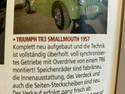 tweedehands Triumph TR3 -- small mouth