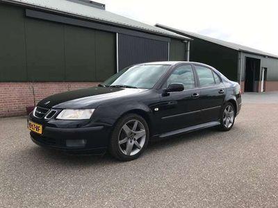 tweedehands Saab 9-3 Sport Sedan 1.8t Arc, Zwart, Ecc, Leer, Sportwiele