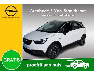 tweedehands Opel Crossland X 1.2 Turbo Ultimate Automaat, Panoramadak, 17 inch velgen, Navigatie, Panorama Camera, LED koplampen