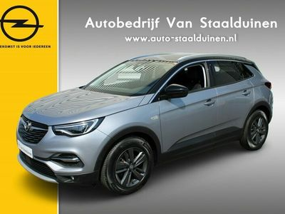 tweedehands Opel Grandland X 1.2 Turbo Edition 2020 Zwart dak  Navigatie  AGR stoelen  Camera  LED Koplampen  Dakrails