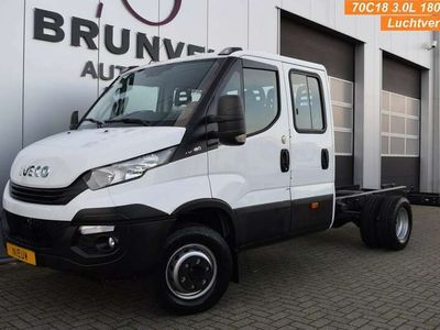 tweedehands Iveco Daily 70C18D 3.0 180pk, Dubbele Cabine, LUCHTVERING, PTO