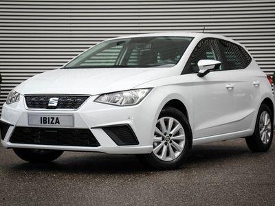 tweedehands Seat Ibiza ACTIE! Style Business Intense 1.0 TSI 15 inch lichtmetalen velgen, 8 inch navi, climatronic, DAB+, elektrische ramen, parkeersensoren voor en achter, achteruitrijcamera