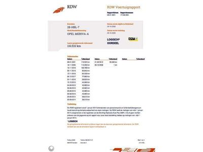 tweedehands Opel Meriva 1.6-16V Temptation AIRCO CRUISE 116.000KM