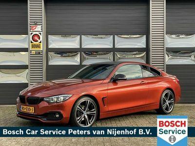 """tweedehands BMW 420 4-SERIE Coupé 420 i HIGH EXECUTIVE LEDER 19"""" NAVI LED 184PK M-SPORT 53DKM"""