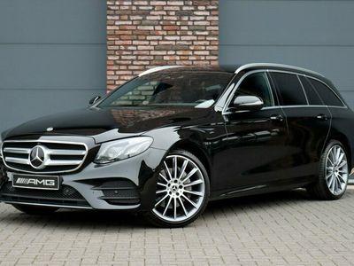 tweedehands Mercedes 220 E-KLASSE Estated 4-Matic Premium AMG Aut9, Distronic+, Widescreen, Comand, Surround Camera, Elek. Trekhaak, Parkeerverwarming, Nappaleder, Memory, Burmester, Sfeerverlichting, Rij-assistent+, Smartphone-integratie, Etc.
