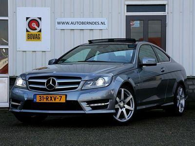 tweedehands Mercedes 350 C-KLASSE Coupé306PK 6 Cilinder AMG Aut.*NL-Auto*Perfect dealer onderh.*Panodak/Xenon/Leder/Navi/Stoelverw./Stoelkoeling/Standkachel/Parkeersens.V+A/VOL*