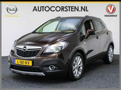 tweedehands Opel Mokka 1.4T 140pk Aut. Cosmo 1/2Leer Xenon Pdc Tel. Usb Stoel-/stuurverw. Cruise Ecc Isofix 17''LM