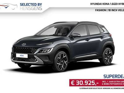 tweedehands Hyundai Kona 1.6 GDI HEV Fashion | 18 inch | Stoelverwarming