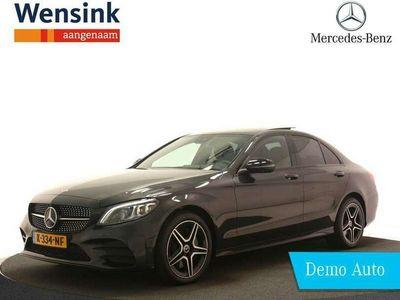 tweedehands Mercedes C300 e Business Solution AMG NIGHT Limited | Panorama-schuifdak | 360-camera | Apple Carplay | Sfeerverlichting | Android Auto | Stoelverwarming | Sound Systeem | MultiBeam LED |